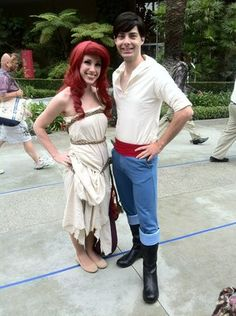 17 unique diy disney halloween couples costumes no one else will ariel and prince eric costume little mermaid more solutioingenieria Image collections