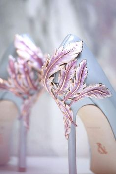 blush pink feather high heel wedding shoes can be so wonderful and surprising