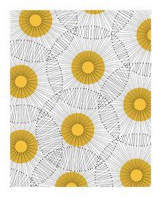 Retro Dandelion Print by Jaymee Srp