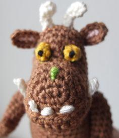 Grüffelo Fingerpuppe gehäkelt, häkeln, crocheted Gruffalo finger puppet, crochet
