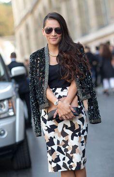 Street Style Paris Fashion Week Spring 2014 Tina Leung