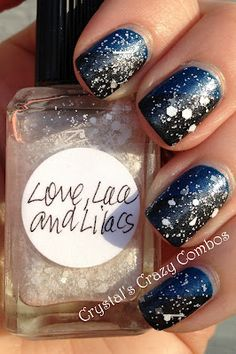 Maybelline Denim Dash, which is 2 coats then Love, Lace and Lilacs