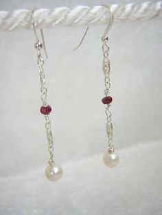 Genuine Red Faceted Ruby and Freshwater by RLGemstoneElegance, $79.00