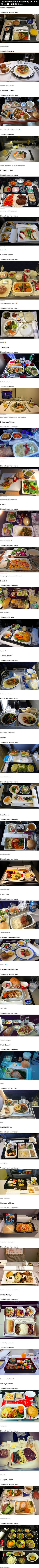 Airplane Food In Economy Vs. First Class On 20 Airlines<< for the record, Singapore airlines Econ class food is pretty good.