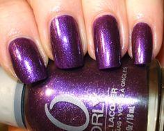"ORLY ""Velvet Rope"" - medium purple with silver glitter"
