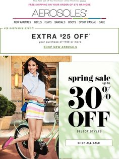 New Markdowns Taken! Spring Sale Now up to 30% off! - Aerosoles