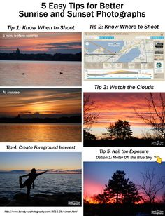5 Easy Tips for Better Sunrise and Sunset Photographs | Boost Your Photography
