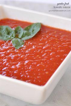How to Make Fresh Tomato Sauce - homemade tomato sauce that tastes like a fresh from the garden tomato!