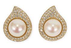 Dior Faux-Pearl Earrings on OneKingsLane.com