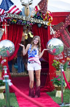 Redneck Red Carpet - Sweet 16 Party for Sadie Robertson (Duck Dynasty), Styled by ithe Junk Gypsies - Photography by April Pizana Redneck Party, Redneck Girl, Redneck Crafts, 16th Birthday, Birthday Parties, White Trash Bash, White Trash Party Outfits, Sweet 16 Decorations, Sweet 16 Parties