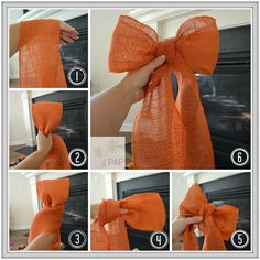 Step by Step Tutorial on how to make your own DIY Burlap Wreath and Bow