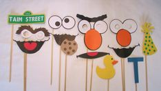 Sesame Street Photo Booth Props by TaimCreations on Etsy