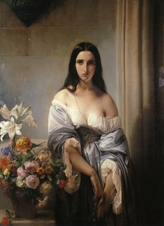 Francesco Hayez was an Italian painter🎨, the leading artist of Romanticism in Milan, renowned for his grand historical paintings, political allegories and exceptionally fine portraits. Hayez came from a relatively poor family from Venice. Italian Painters, Italian Artist, Wassily Kandinsky, Gustav Klimt, Vintage Poster, Art Graphique, Attractive People, Rembrandt, Woman Painting