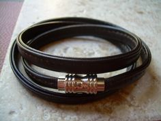 Flat Stitched Nappa Leather Cord Wrap by UrbanSurvivalGearUSA