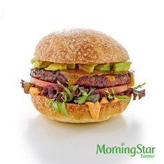 The Southwest Burger – made with MorningStar Farms® Spicy Black Bean Burgers (which have 10g of protein!)