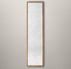 Bistro Antiqued Glass Leaner Mirror