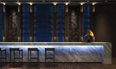 SCDA Hotel & Mixed-Use Development, Nanjing, China- Jazz Bar