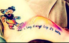 """what a long strange trip it's been. Old Tattoos, Cover Up Tattoos, Body Art Tattoos, I Tattoo, Tatoos, Pretty Tattoos, Beautiful Tattoos, Greatful Dead Tattoo, Grateful Dead Dancing Bears"
