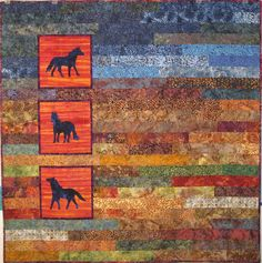 Horse Quilt 2 | i think i would like this with bison instead.. so different