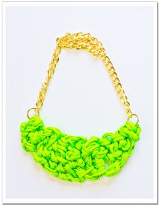 Court + Hudson's DIY Knotted Rope Necklace using our neon cord!