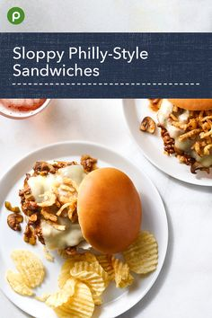 This fun family recipe uses portabella mushrooms. Sandwich Recipes, Meat Recipes, Publix Aprons Recipes, Cooking Tips, Cooking Recipes, Sandwiches, Philly Style, Strawberry Desserts, Recipe Details