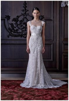 Wedding dress from the Monique Lhuillier Spring 2016 Bridal Collection.