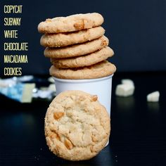 Copycat Subway White Chocolate Macadamia Cookies- Even better than the original and with a #glutenfree version!