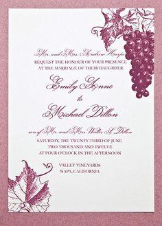 Vineyard Wedding Invitation Suite by encrestudio on Etsy, $3.50