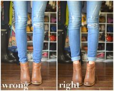 The Do's and Don'ts of Cuffing Your Jeans with Ankle Boots // Merricks Art