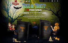 #TrickorTreat at #LuckyCreek #Casino - #FreeSpins and #Bonuses