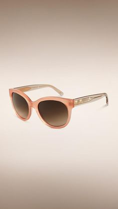 24296ffee7 Burberry Peach Cat-eye Sunglasses - Created to celebrate the launch of My  Burberry