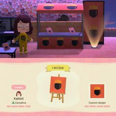 Game design 665406913683349382 - recipe icon pattern for booths and stands designed… – ACNH Custom Designs Source by ennkern Animal Crossing Guide, Animal Crossing Qr Codes Clothes, Animal Crossing Pocket Camp, Path Design, Diy Design, Custom Design, Design Ios, Video Game Decor, Motif Acnl