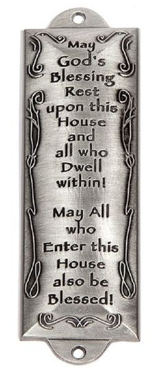 Mezuzah - Bless This House (Pewter) -