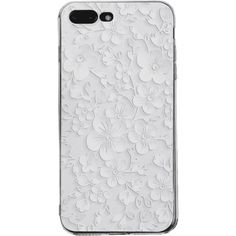 Floral Leaf Pattern Phone Case For Iphone ($3.70) ❤ liked on Polyvore featuring accessories and tech accessories