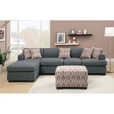 Found it at Wayfair - Bobkona Hudson Reversible Chaise Sectional