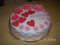 Mój pierwszy tort zrobiony na Walentynki pomysł własny