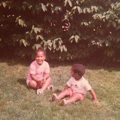 ...when you had no choice but to kinda like your little brother @iamdhicks  #tbt #cortneyandcory #backyard #backyardigans #early70's #brother #sister #detroit #hicksstrong