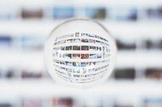 Instax Wall Orb by Sam Revel, via Flickr #orb #ball #mirror