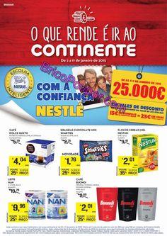 Antevisão Promoções Folheto Continente - de 2 a 11 de Janeiro - O que rende é ir ao Continente