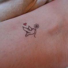 Cute small tattoo of a bird