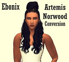 The Sims 4 | TS3 Artemis Norwood Hairstyle by EbonixSimblr | female adult natural hairs