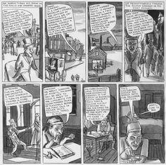 "Tavola tratta da ""The Jew of New York"" di Ben Katchor. Pubblicato da Pantheon Books (USA, 1998)"