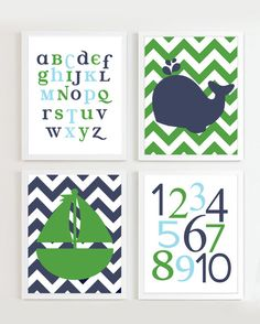 INSTANT DOWNLOAD Nautical Print with ABC and by PrincessSnap