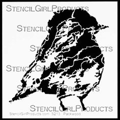 A personal favorite from my Etsy shop https://www.etsy.com/listing/252648844/stencil-girl-speckle-bird-stencil-6-x-6