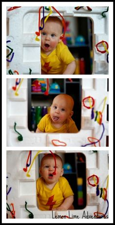 DIY Activity Cube: Fine Motor practice for older siblings and endless recycled play for baby! So fun!