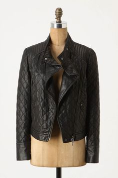It's out of my price range for sure, but maybe when it goes on sale. Rocker Style, It Goes On, Quilted Leather, Quilted Jacket, Work Wear, What To Wear, Style Me, Winter Outfits, Anthropologie