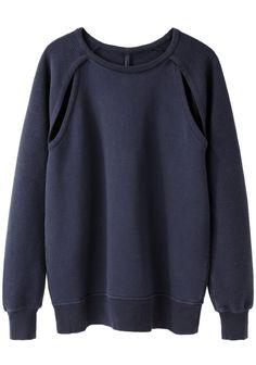 Silent by Damir Doma Tempis Cutout Sweatshirt   La Garçonne