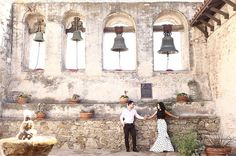 Engagement Photo Shoot at the Mission in San Juan Capistrano
