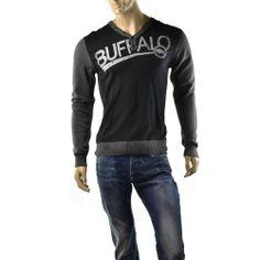 Buffalo David Bitton Sweater Mens Jersey Wacleah Jumper Henley Shirt Size M $79 #BuffaloDavidBitton #VNeck