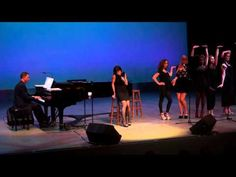 """Susan Egan and Whittier College Students perform the song from """"Hercules"""" on the stage of the Robinson Theatre in the Ruth B. Shannon Center for the Performi. It Goes Like This, Im In Love, Whittier College, Susan Egan, Son Of Zeus, Music Do, Hercules, College Students, The Incredibles"""
